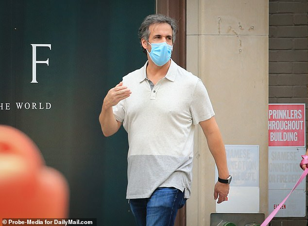 Although Cohen believes the leak of the tape is 'sick and demented', he said he isn't afraid of continue to speak out against Trump. Pictured: Cohen in June