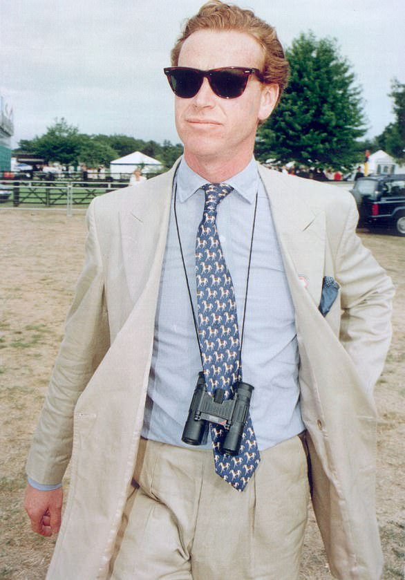 King of the Hooray Henrys was James Hewitt, who became a household name after he revealed his affair with Princess Diana. Pictured, Hewitt in a linen suit at the Guards Polo Club, Windsor, a Sloane stomping ground