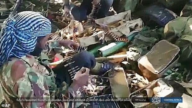ISIS fighters armed on 6 August claimed to have been seized from the Mozambique army after a clash at Mosimbo da Priya in the north of the country.