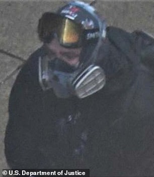 The FBI received a tip about this masked man at a protest in Seattle on May 30