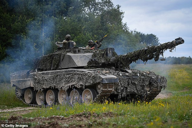 Both Prince William and Prince Harry learnt to drive tanks at Bovington, home of the Royal Armoured Corps' training centre. Pictured: Challenger 2 Main Battle Tank