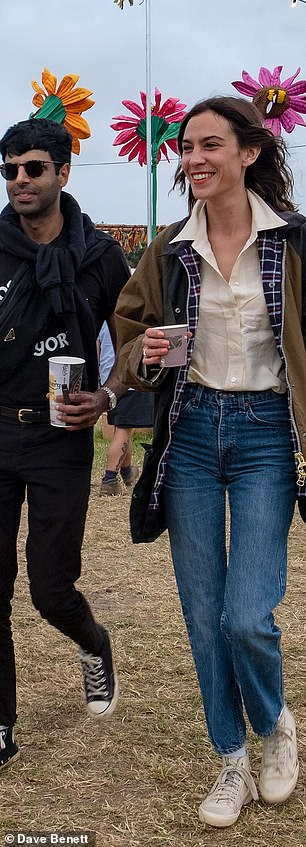 Trend-setter: Alexa Chung, 36, has taken the Barbour, once a must-have for Sloane retreats to the company, and given it a revamp that is chic enough to be worn in the city without irony