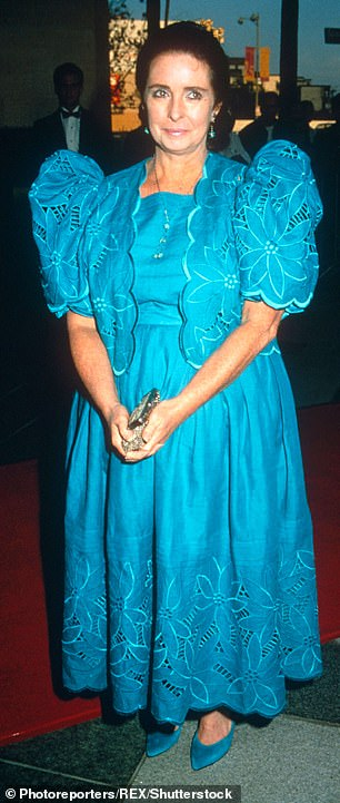 Margret O'Brien in a bold puff sleeved dress