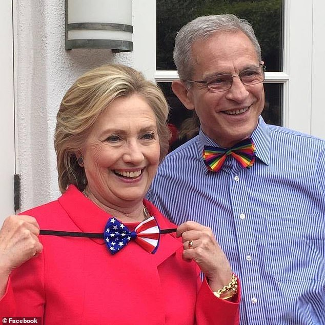 Ed Buck with Hillary Clinton in one of his Facebook photos, posted in September, 2015
