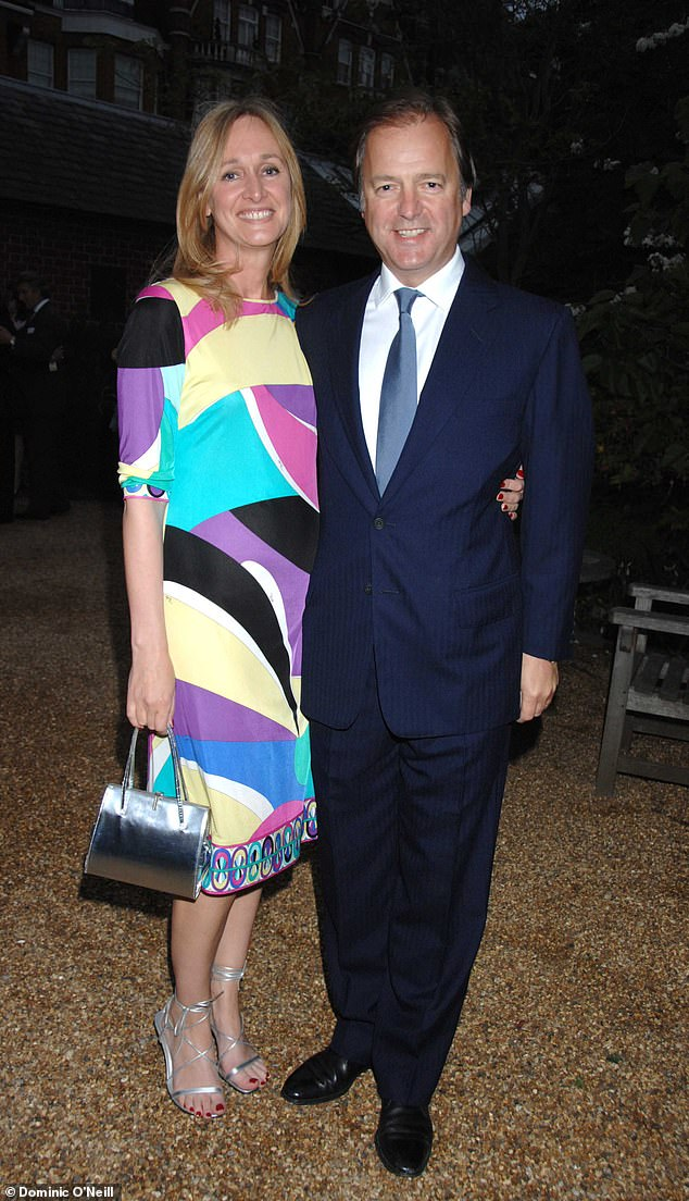 Sasha Swire, wife of former Tory minister Sir Hugo Swire (pictured together) leaves no one unscathed in her new memoirs