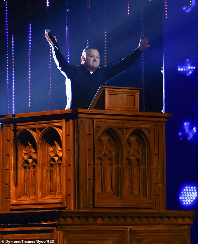 Comedian: The Scouse vicar made jokes about funerals and his uncle passing away during the semi-final