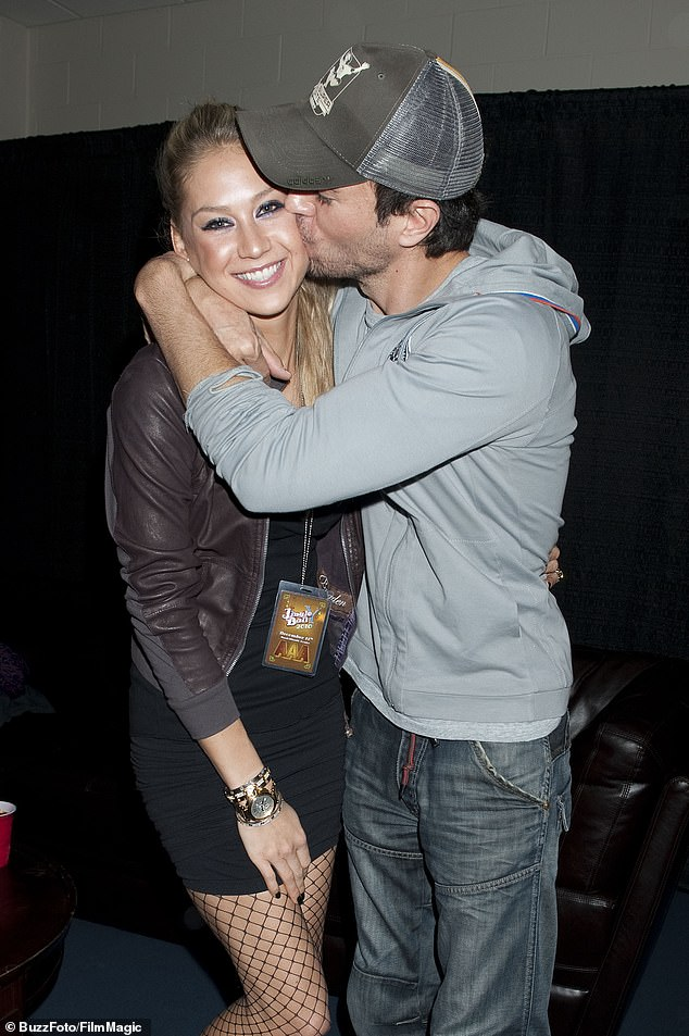 Celebrity couple: Iglesias, 45, and Kournikova, 39, have been together since 2001. Desiring no information about their marriage, Kournikova added Iglesias to her name on Instagram (pictured in December 2010 in Miami)