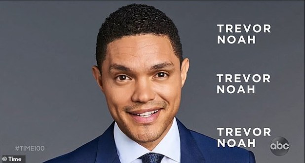 It is revealed that the Duke and Duchess of Sussex will be making a personal appearance on the show alongside famous faces Trevor Noah (pictured), Sandra Oh, Kumail Nanjiani and John Legend