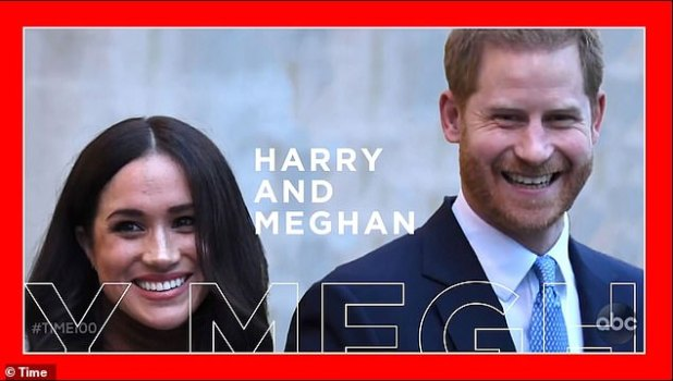 Prince Harry and Meghan Markle have revealed a new promo (picture) in the first TV version of TIME's 100 Most Influential People list