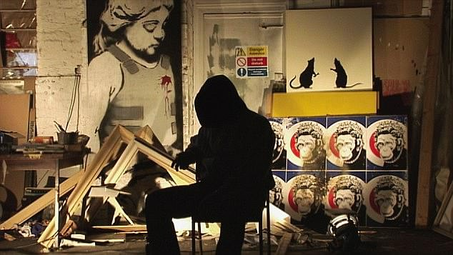 Judges pointed to the fact that 'he cannot be identified as the unquestionable owner of such works as his identity is hidden' (pictured: Banksy in his filmExit Through the Gift Shop)
