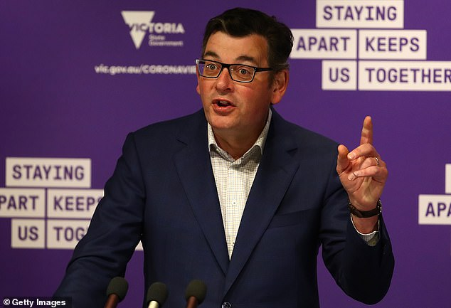 Premier Andrews (pictured)is desperate to stop coronavirus spreading from Melbourne to the regions