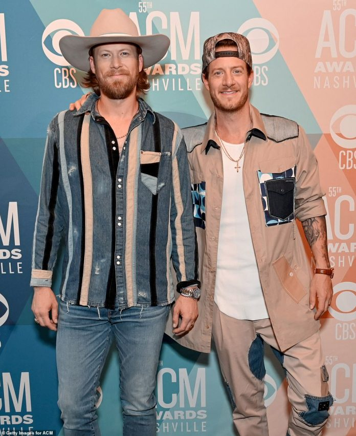 Successful duo: Brian Kelley and Tyler Hubbard of Florida Georgia Line also walked the red carpet