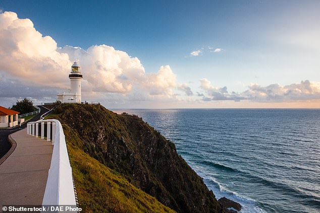 Qantas say the low-flying scenic flight will promote key Australian tourist zones. Pictured: Byron Bay