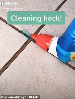 Australian viewers urged her to buy special grout cleaner from Bunnings