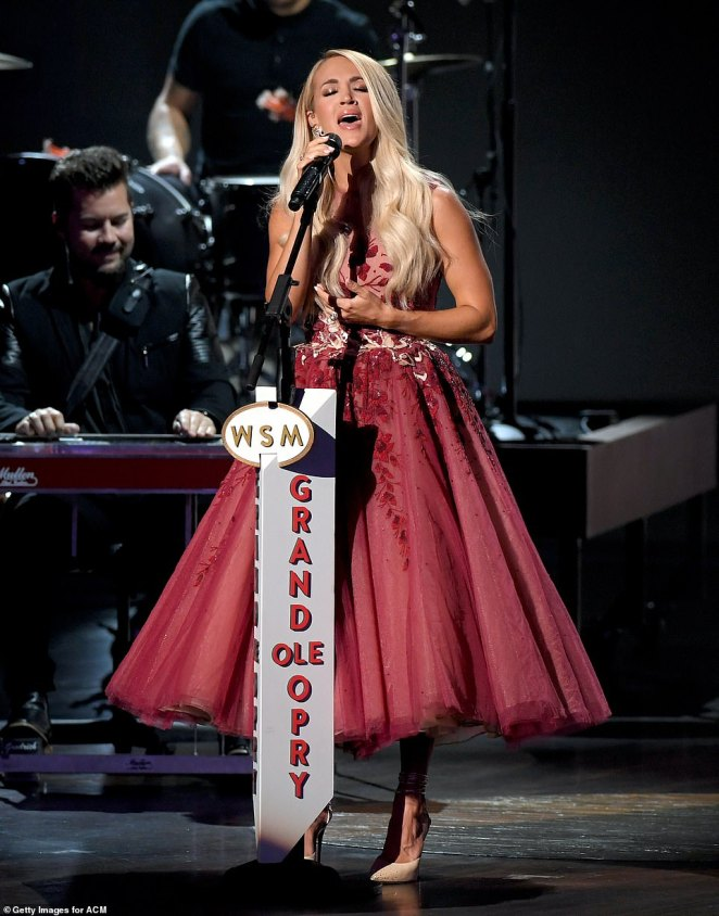 Paying homage:Carrie Underwood brought her powerhouse vocals as she paid homage to trailblazing female country stars of the Grand Ole Opry at the iconic venue