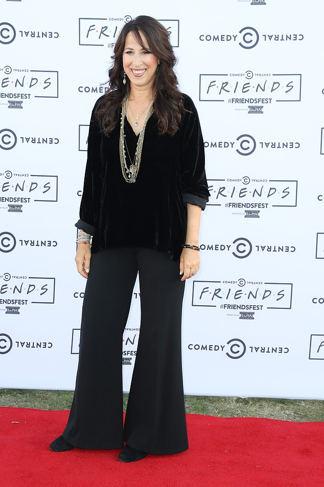 Iconic: Friends star Maggie Wheeler has revealed the real reason her character Janice had such an iconic (and annoying) voice on the show. Picturedon August 23, 2016 in London