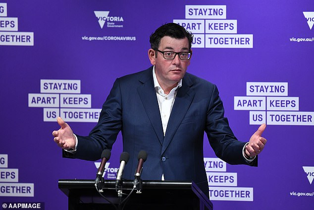 Mr Sabhlok said Premier Daniel Andrews (pictured) was 'whimsy' and warned him to resign