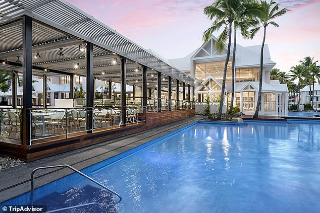 The five-star Sheraton Grand Mirage Resort (pictured) has been a home away from home for a host of AFL stars in recent weeks