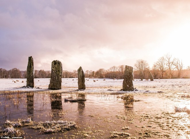 TheBallymeanoch stones again, this time captured at ground level in sensational fashion by west coast of Scotland nativeEilidh Cameron, who posted it to her Instagram account