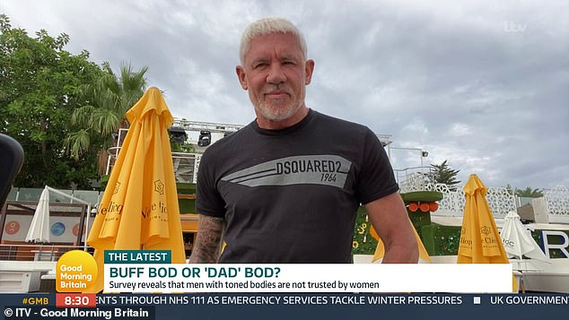 The father-of-four appeared on Good Morning Britain in a bizarre interview today where heinsisted that despite having 'more temptation' from women thanks to his toned body, he isn't a 'bad boyfriend'