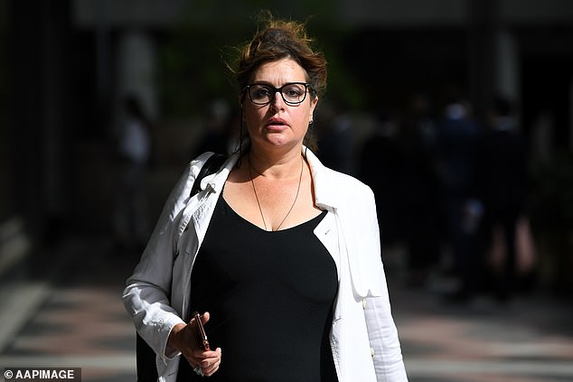Legal: The 45-year-old, formerly known as Kate Fischer, was listed for mention in a matter involving police, which was adjourned to the same court next week