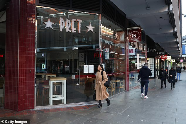 Starved of customers, sandwich shops that rely on a daily stream of workers took a massive financial hit during lockdown (Pret a Manger pictured)