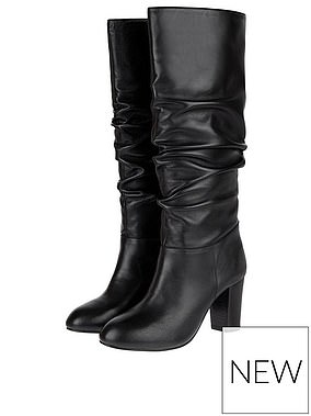 Monsoon Slouch Long Leather Boots (£100) at Very