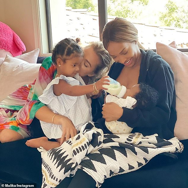 'Real love': The Sky High alum now enjoys playdates with Kardashian and her two-year-old daughter True from her relationship with NBA center Tristan Thompson, which ended in February 2019 (pictured July 9)