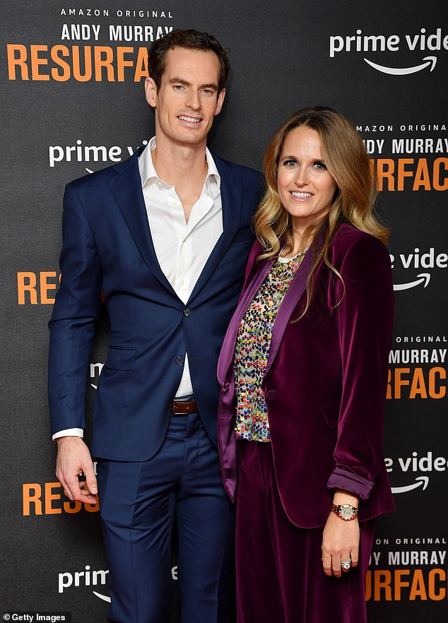 Tennis star Andy Murray (pictured with wife Kim Sears) is urging officials to consider renaming Melbourne's Margaret Court Arena over the Australian's anti-gay stance