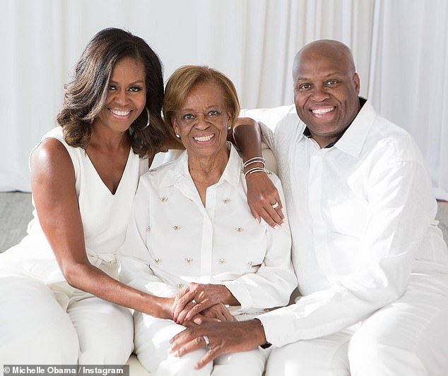In Obama's latest podcast episode she reflected on race with her mother Marian Robinson and her brother Craig
