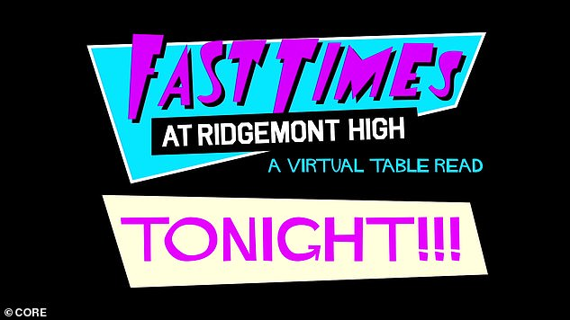 Cult classic: Fast Times At Ridgemont High virtual table reading took place on Thursday after being postponed due to technical difficulties
