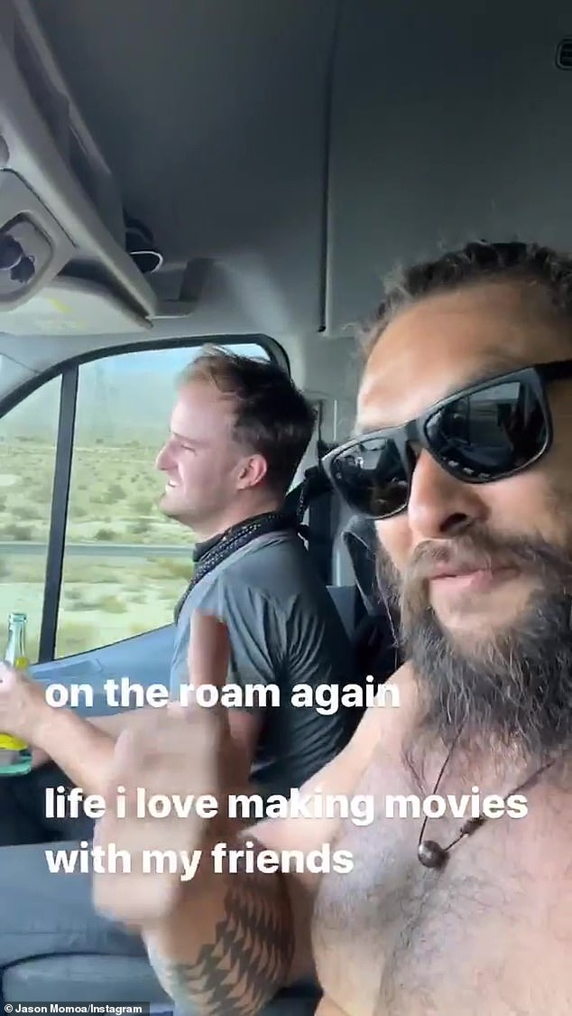 On the Road: Thankfully he wasn't stranded for long, sharing a new video an hour later where he was on the road again ... while listening to the Willie Nelson classic On the Road Again