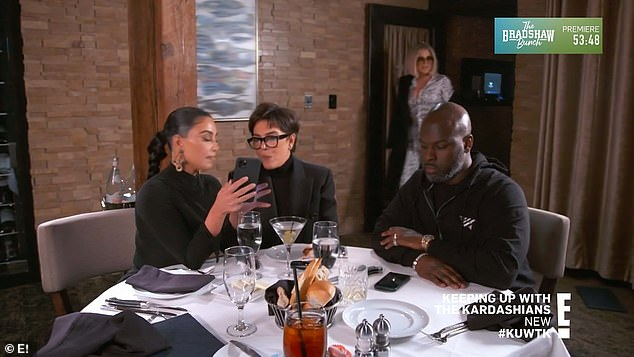 New plan: In order to get 'more realistic photos,' Khloe and Kim take Kris and Kris' longtime boyfriend Corey Gamble out to dinner with the intention of getting Kris 'belligerently drunk'