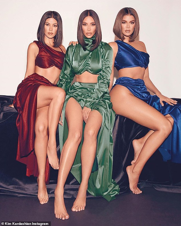 Cohesive: The sister's announced their new fragrance collab earlier this month. At the time Kim said: 'We collectively wanted the diamonds to be a bit more rich, sultry and sensual.'