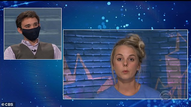 Tough vote:Nicole when it came time to vote maintained her allegiance to The Committee and tearfully voted to evict Ian