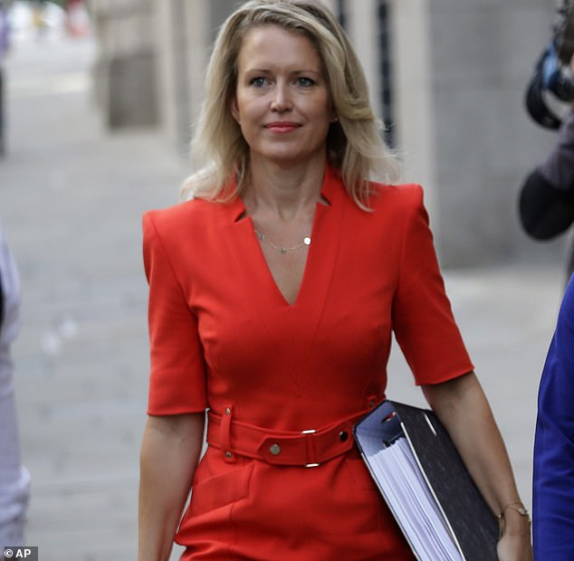 Jennifer Robinson, one of the lawyer's representing Assange, made a statement to the Old Bailey today (pictured last week)