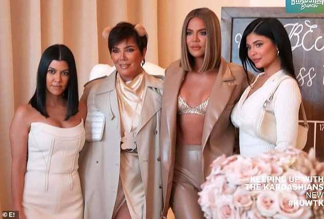Family in attendance: Also there was Khloe's family - sister Kylie Jenner, Kris Jenner, and Kourtney Kardashian