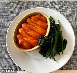After a sweet potato-topped shepherd pie with green beans and cabbage (pictured) for lunch, we were introduced to MeTCon With Step