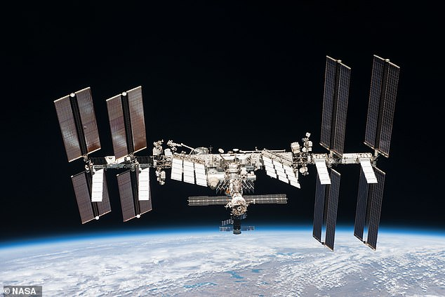 The announcement of the Russian film amounts to a space movie race with the West, competing against a project by NASA, Elon Musk and Tom Cruise, which will also be shot at the ISS (pictured) in October