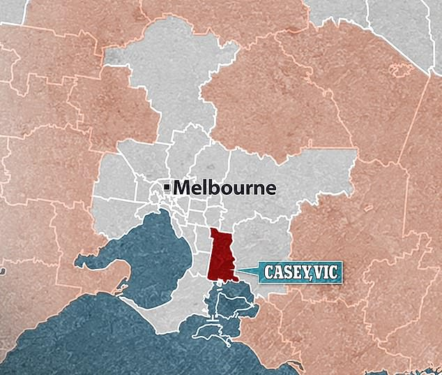 There are currently 101 active coronavirus cases in the Casey and Dandenong area with 34 infections linked to five households