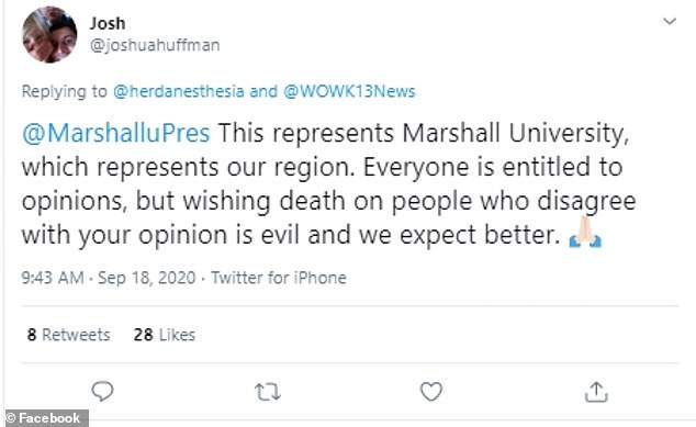 A number of Twitter users spoke out against the video and implored Marshall University to take action over the matter