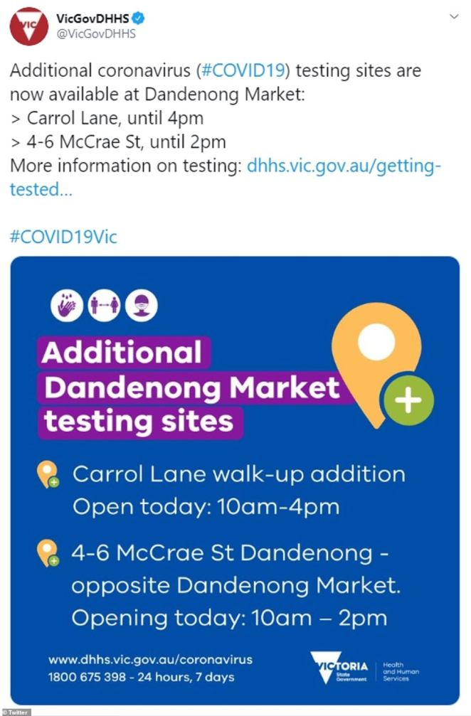 Health authorities are urging anyone in the southeast of Melbourne to diligently monitor their health and immediately get tested if feeling unwell