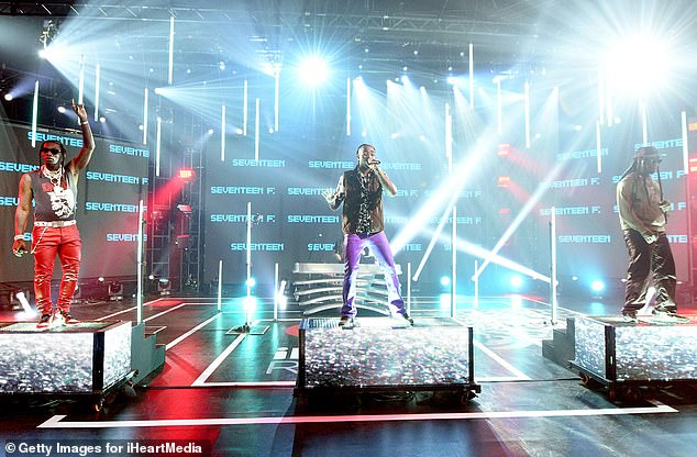 Social distancing: Each member of the trio had a platform on the stage, so they could perform while social distancing from each other