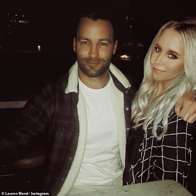 New flame: Soon after the split was announced, Jimmy went public with his new girlfriend, office worker Lauren Mand, 31