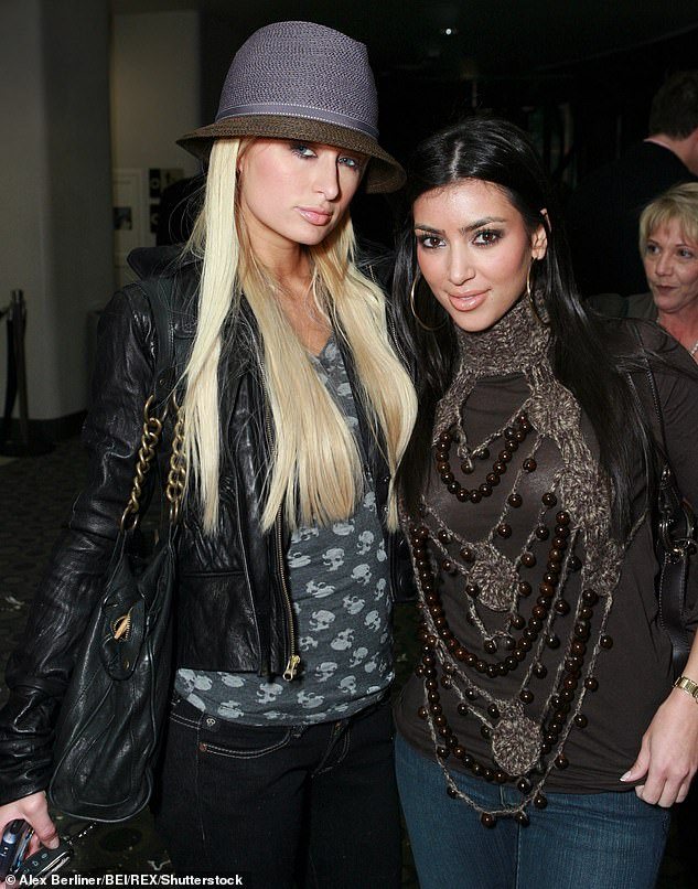 Where it began: Kim began her career with cameo appearances in Paris¿ reality show The Simple Life when she worked as the heiress¿ assistant and stylist (pictured together in 2007)