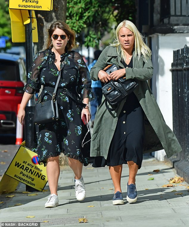 The Queen's granddaughter called it a 'complete joy and privilege' to watch her 'beautiful big sister' Beatrice, 32, affectionately known as 'Bea', marry Italian property developer Edo, 36, in a surprise service. She is pictured in London today