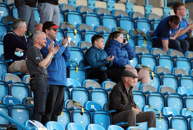 Carlisle fans had plenty to cheer about on their return to the stadium as their side marked their first win of the season in a 2-0 victory