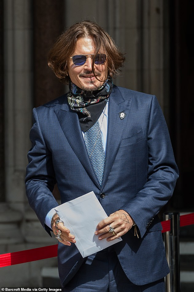Delayed: Depp had filed a motion to have his upcoming defamation trial against Heard delayed, so he can film Fantastic Beasts 3 in London