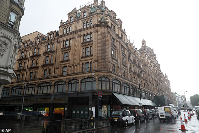 Harrods (pictured) are among the retail giants warning the Chancellor his plans would deliver a £5.6 billion hammer blow to the economy, decimate high streets and wipe out 70,000 jobs