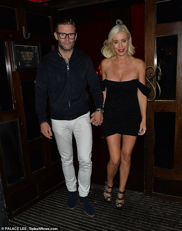 Wow!  Denise Van Outen looked sensational as she stepped out hand-in-hand with her long-term beau Eddie Boxshall, 47, after her Cabaret All Stars show in London on Saturday